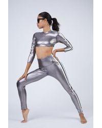 Norma Kamali Side Stripe Leggings - Gray