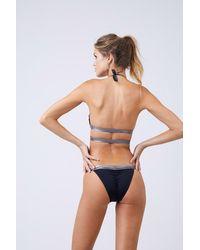 Moeva Olivia Colour Block Ruched Bikini Bottom - Black