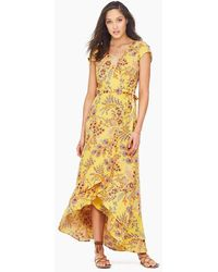 Tigerlily Manipura Cap Sleeve Maxi Dress - Yellow