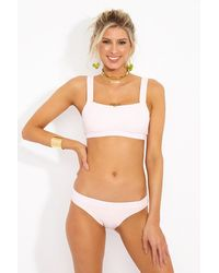 Solid & Striped The Madison Sporty Bikini Top - Pink