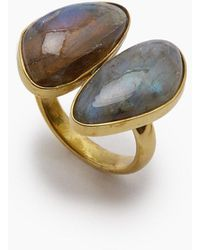 Lena Bernard Naenia Labradorite Stone Ring - Metallic