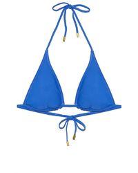 Helen Jon Reversible Braided String Bikini Top - Pacific Blue