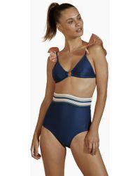 Agua de Coco Extra High Waist Bikini Bottom - Blue