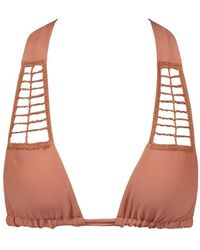 Acacia Swimwear Secrets Crochet Halter Bikini Top - Topless Tan - Multicolour