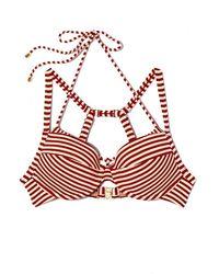 Marlies Dekkers Holi Vintage Plunge Balcony Big Bust Bikini Top - Red Ecru