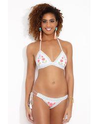 RINIKINI Lola Crochet Triangle Bikini Top - Multicolour