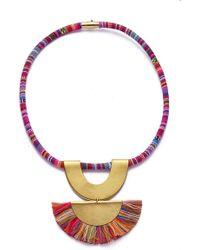Sandy Hyun Tassel Pendant Necklace - Multicolour