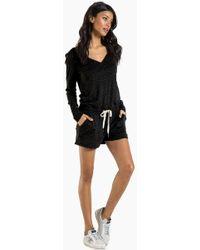 n:PHILANTHROPY - Arroyo Long Sleeve Romper - Black Cat - Lyst