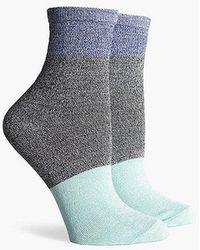 Richer Poorer Riker Color Block Ankle Socks - Blue