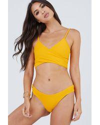 Maaji Farrah Criss Cross Wrap Bikini Top - Yellow