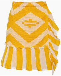 lemlem Biruhi Wrap Skirt - Yellow