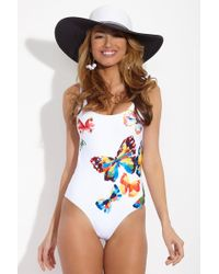 Onia Kelly Scoop Back One Piece Swimsuit - Butterfly - White