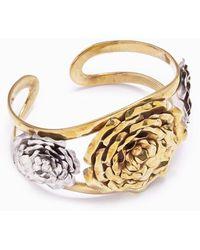 Lena Bernard 3 Roses Cuff Bracelet - Metallic