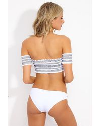 L*Space Estella Side Cut Out Bikini Bottom - White