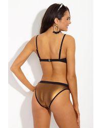 Moeva - Paula Mesh Metallic Full Bikini Bottom - Lyst