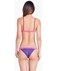 Triya Mira Colour Block Cheeky Bikini Bottom - Purple