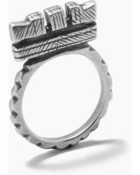 "Vanessa Mooney Fight The Power ""c"" Ring - Metallic"