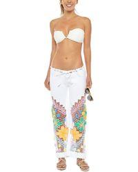 Kovey Low Tide Rainbow Crochet Trousers - White