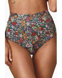 Montce Swim - High Rise Banded Bikini Bottom - Mara Floral Print - Lyst