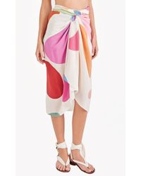Triya Sarong - Artsy Colour Print - Pink