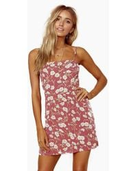 Blue Life Day Party Cami Mini Dress - Red
