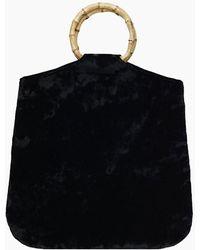Kayu Hudson Velvet Tote - Black