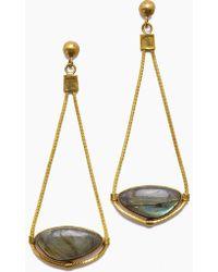 Lena Bernard - Najila Labradorite Pendant Gold Drop Earrings - Lyst