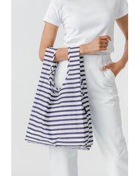 BAGGU Sailor Stripe Market Bag - Blue
