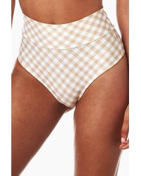 Montce Swim - High Rise Banded Bikini Bottom - Nude Spring Gingham Print - Lyst