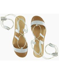 Cocobelle Tulum Wrap Around Tie Sandals - White