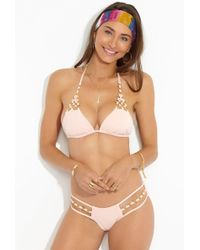Beach Bunny Ireland Ring Triangle Bikini Top - Blush Pink