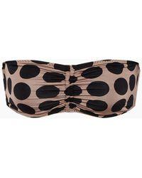 Stella McCartney Ruched Bandeau Bikini Top - Black