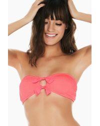 L*Space Kristen Bandeau Bikini Top - Neon Pink
