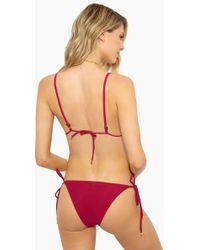 Rosa Cha - Basic Side Tie Bikini Bottom - Solid Beetroot - Lyst