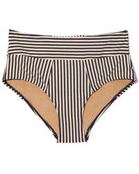 Marlies Dekkers - Holi Vintage High Waist Briefs Bikini Bottom (curves) - Blue Ecru - Lyst
