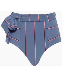 Seafolly Radiance Belted High Waist Bikini Bottom - Grey