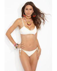Vitamin A Elle Tie Side Bikini Bottom - White