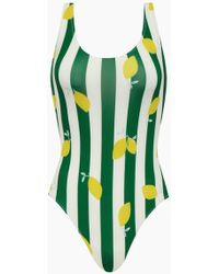 Solid & Striped The Anne-marie Classic One Piece Swimsuit - Green