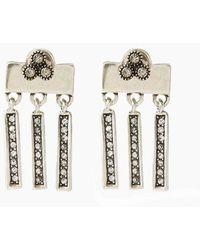 Luv Aj The Moroccan Dangle Stud Drop Earrings - Metallic