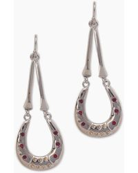 Vanessa Mooney The Brooklyn Horseshoe Earrings - Metallic