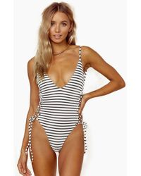 Blue Life - Roped Up One Piece Swimsuit - Jacquard Stripe - Lyst