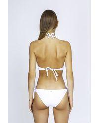 Moschino Couture Brief Slip Tie Side Bikini Bottom - White