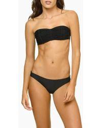 Pilyq Isla Macrame Bandeau Bikini Top - Black