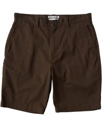 Billabong Carter Stretch Shorts - Brown