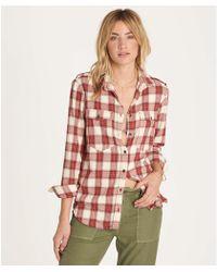 Billabong - Venture Out Long Sleeve Flannel Shirt - Lyst