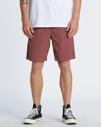 Billabong Larry Layback Corduroy Shorts - Red