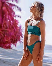 Billabong Tanlines Tanga Bikini Bottom - Blue