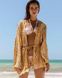 Billabong Ocean Sky Kimono Cover Up - Multicolor