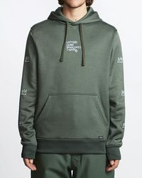 Billabong Basquiat Thermal Fleece Hoodie - Green