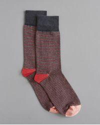 Billy Reid - Heirloom Stripe Sock - Lyst